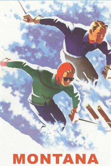 Ski Montana Poster--Premium Giclee Print
