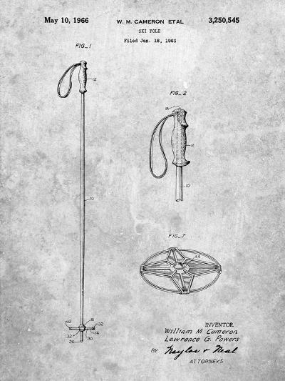 Ski Pole Patent-Cole Borders-Art Print