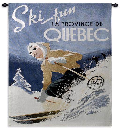 Ski Quebec--Wall Tapestry