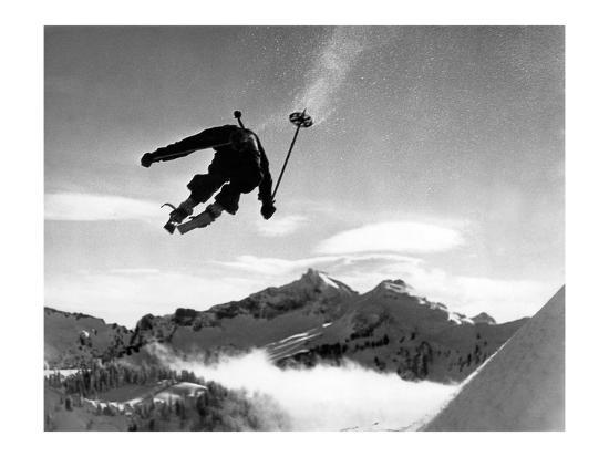 Ski racer-Underwood-Giclee Print