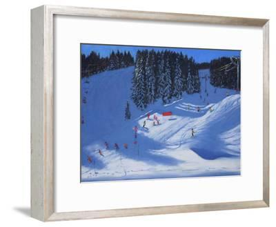 Ski School, Morzine, 2014-Andrew Macara-Framed Giclee Print