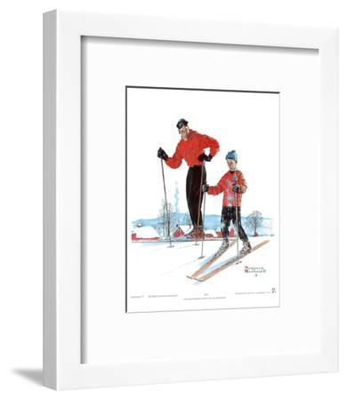 Ski Skills-Norman Rockwell-Framed Art Print