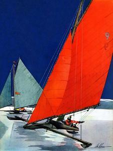 """""""Iceboats Racing,""""February 18, 1939 by Ski Weld"""