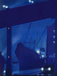 """Nighttime in Port,"" January 13, 1940 by Ski Weld"