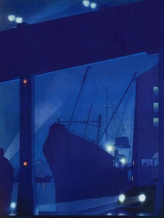 """Nighttime in Port,"" January 13, 1940"