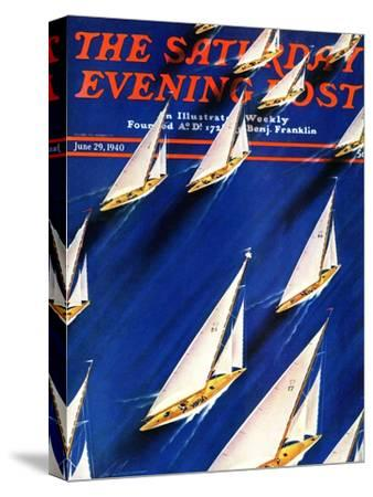 """Sailboat Regatta,"" Saturday Evening Post Cover, June 29, 1940"