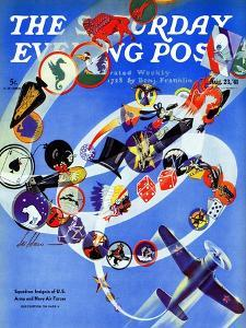 """""""Squadron Insignia,"""" Saturday Evening Post Cover, August 23, 1941 by Ski Weld"""