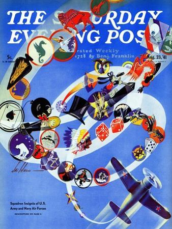 """Squadron Insignia,"" Saturday Evening Post Cover, August 23, 1941"