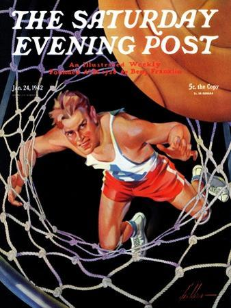 """Two Points,"" Saturday Evening Post Cover, January 24, 1942"