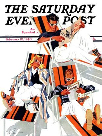 """Winter Vacation,"" Saturday Evening Post Cover, February 10, 1940"