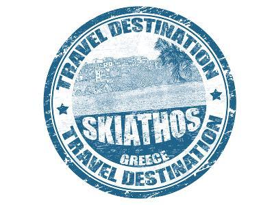 Skiathos Stamp-radubalint-Art Print
