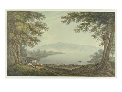Skiddaw and Derwent Water (Pen and Ink with W/C over Graphite on Wove Paper)-Joseph Farington-Giclee Print