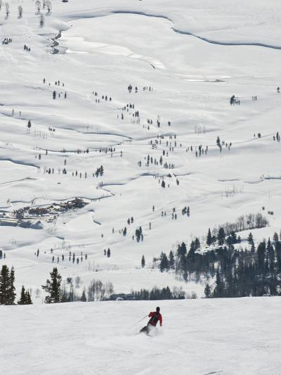 Skier at Jackson Hole Ski, Jackson Hole, Wyoming, United States of America, North America-Kimberly Walker-Photographic Print