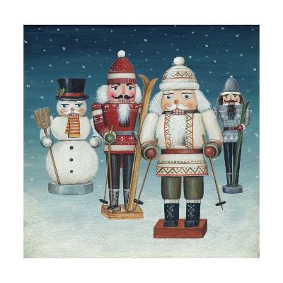 Skier Nutcrackers Snow-David Cater Brown-Art Print