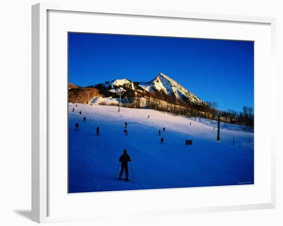 Skiers at Mt. Crested Butte, Crested Butte, Colorado-Holger Leue-Framed Photographic Print