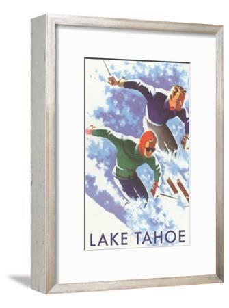 Skiers, Lake Tahoe