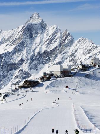 Europe, Italy, Italian Alps, Cervinia ski resort, mountain