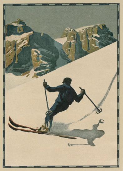Skieur II--Art Print