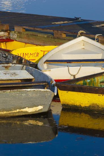 Skiffs at the Dock in Pamet Harbor in Truro, Massachusetts. Cape Cod-Jerry and Marcy Monkman-Photographic Print