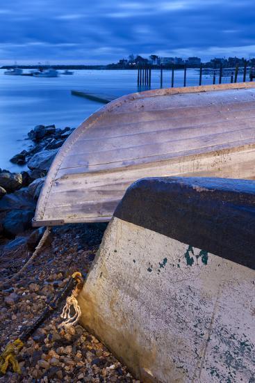 Skiffs in Rye Harbor, New Hampshire-Jerry & Marcy Monkman-Photographic Print