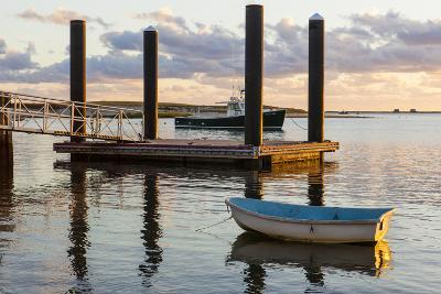 Skiffs Next to the Commercial Fishing Pier in Chatham, Massachusetts. Cape Cod-Jerry and Marcy Monkman-Photographic Print