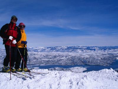 Skiiers in Deer Valley, Park City, Park City, Utah, USA-Cheyenne Rouse-Photographic Print