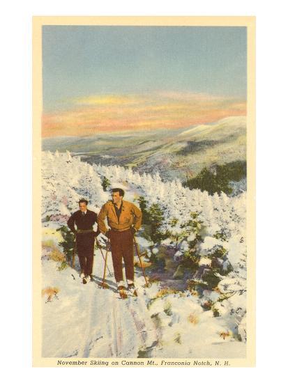 Skiing, Cannon Mountain, New Hampshire--Art Print