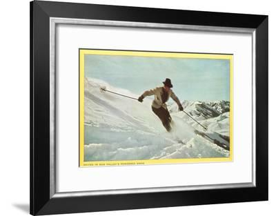 Skiing in Sun Valley, Idaho--Framed Art Print