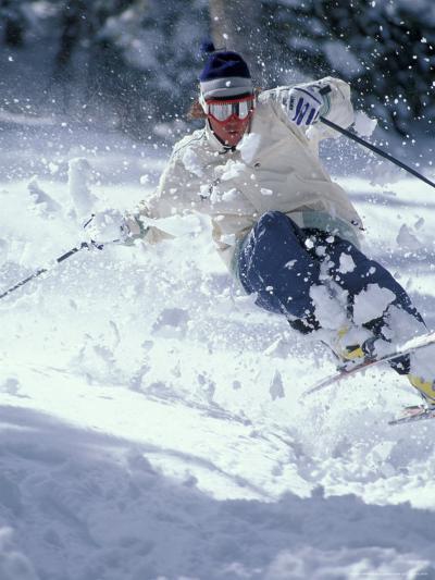 Skiing in Taos, New Mexico, USA-Lee Kopfler-Photographic Print