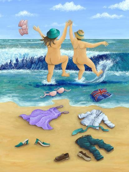 Skinny Dippers-Peter Adderley-Art Print