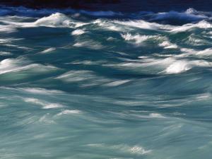 Aqua Blue Waves by Skip Brown