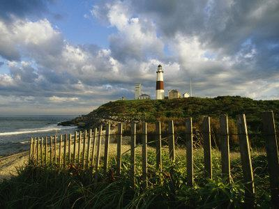Lighthouse at Montauk with Dramatic Sky