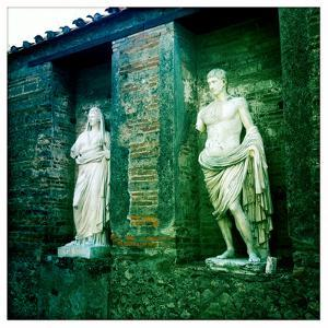 Roman Statues in the Ruins of Pompeii, Italy by Skip Brown