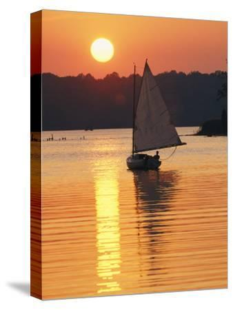 Sailboat and Sunset, South River, Maryland