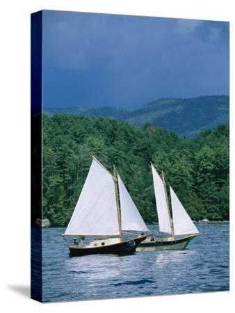 Sailboats and Darkening Sky, Lake Champlain, New York