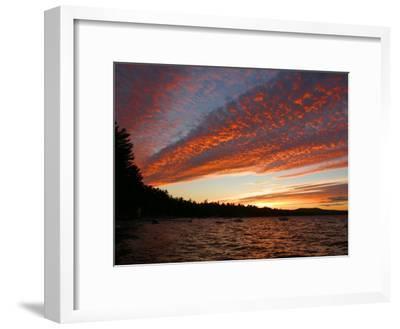 Sunset on Sebago Lake