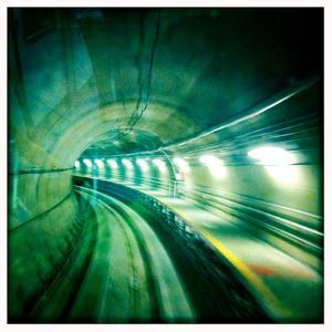 The Light Rail Tunnel at Dulles International Airport by Skip Brown