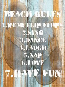 Beach Rules I by Skip Nall