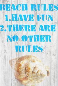 Beach Rules III by Skip Nall