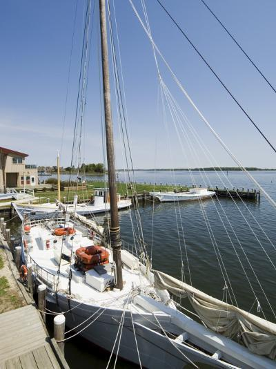 Skipjack Sailing Boat, Chesapeake Bay Maritime Museum, St. Michaels, Maryland, USA-Robert Harding-Photographic Print