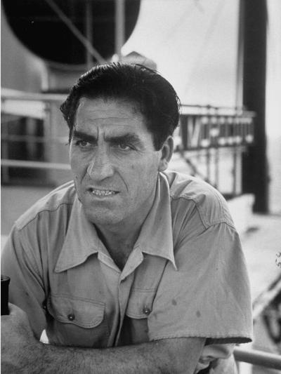 Skipper Jose De Burgana, Who Once Crossed Ocean in a Motorboat-Ralph Crane-Photographic Print