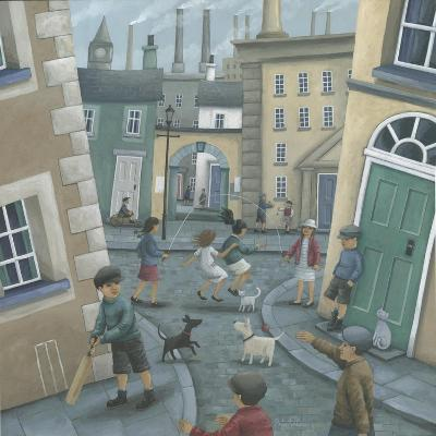 Skipping by the Green Door-Peter Adderley-Art Print