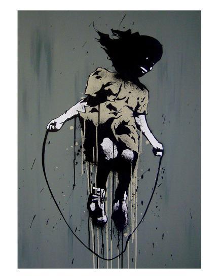 Skipping-Banksy-Art Print