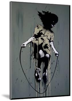 Skipping-Banksy-Mounted Giclee Print