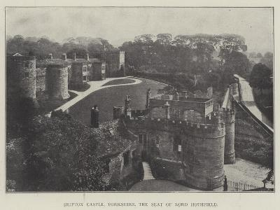 Skipton Castle, Yorkshire, the Seat of Lord Hothfield--Giclee Print