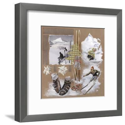 Skis Sapin Vert-Lizie-Framed Art Print
