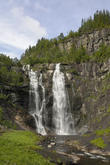 Skjervefossen Waterfall, Near Voss, Hordaland, Norway, Scandinavia, Europe-Gary Cook-Photographic Print