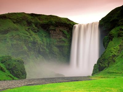 Skogafoss, South Iceland--Photographic Print