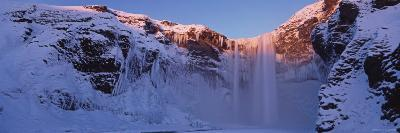 Skogafoss Waterfall Surrounded by Snow and Ice in Winter, Skogafoss, Skogar, Iceland-Gavin Hellier-Photographic Print