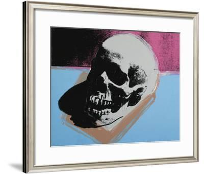 Skull, 1976 (white on blue and pink)-Andy Warhol-Framed Art Print
